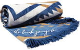 The Beach People The Lorne Round Cotton-terry Towel With Cushion - Navy