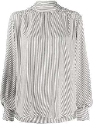 Societe Anonyme Striped High-Neck Shirt