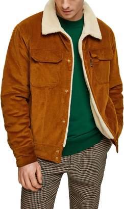 Scotch & Soda Fleece Lined Corduroy Trucker Jacket