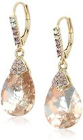 """Betsey Johnson Boat House"""" Faceted Stone Drop Earrings"""