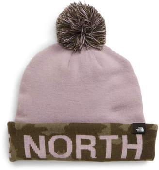 The North Face Logo Cuff Pom Beanie