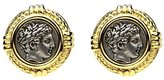 Ben-Amun Roman Coin Button Earrings