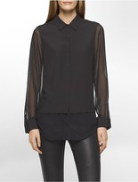 Calvin Klein Chiffon Double Layer Shirt