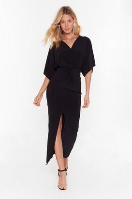 Nasty Gal Womens Waitin' For the Plot Twist Plunging Maxi Dress - black - 6