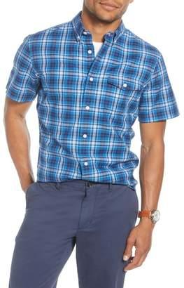 1901 Trim Fit Plaid Short Sleeve Button-Down Shirt