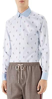 Gucci Men's Kingsnakes Fil Coupe Oxford Shirt