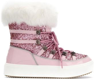 Chiara Ferragni Lace-Up Embellished Boots