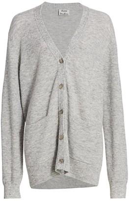 Acne Studios Alpaca & Wool-Blend Knit Cardigan