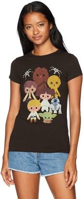 Star Wars Women's Heroes Kawaii Crew Neck Graphic T-Shirt