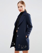 Asos Coat with Eyelet Detail