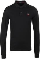 Paul & Shark Black Long Sleeve Shark Fit Polo Shirt