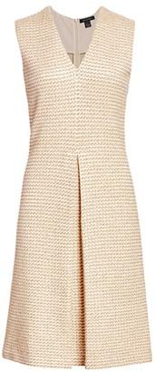 St. John Rope Tweed Shift Dress