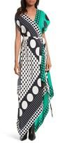 Diane von Furstenberg Women's Asymmetrical Scarf Maxi Dress