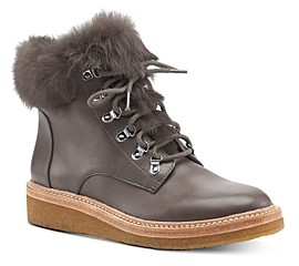 Botkier Women's Winter Leather Lace Up Boots