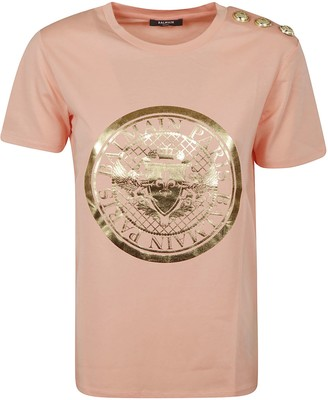 Balmain Shoulder-embellished T-shirt