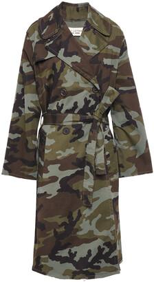 Nili Lotan Printed Stretch-cotton Trench Coat