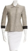 Akris Three-Quarter Sleeve Tweed Jacket