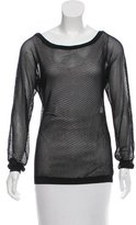 Tamara Mellon Oversize Open Knit Top