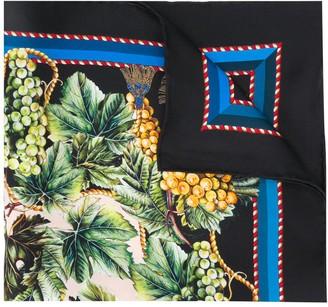 Dolce & Gabbana Vineyard Print Silk Scarf