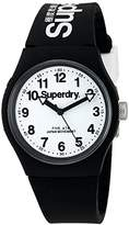 Superdry 'Urban' Quartz Plastic and Silicone Dress Watch, Color:Black (Model: SYG164BW)