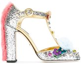 Dolce & Gabbana 'Vally' pumps - women - Leather/Polyester/metal/glass - 35