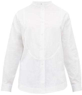 Sara Lanzi Bib-panel Cotton-canvas Shirt - Womens - White
