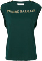 Pierre Balmain gold-tone logo top