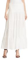 Lauren Ralph Lauren Cotton Gauze Maxi Skirt, White