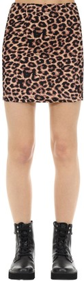 Victoria's Secret The People Kate Hyaena Print Cotton Mini Skirt