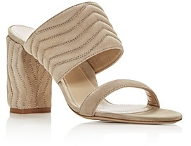 Marion Parke Women's Lizzie Quilted High Block-Heel Slide Sandals