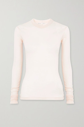 BITE Studios + Net Sustain Ribbed Organic Cotton-jersey Top - Blush