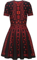 Alexander McQueen Wool And Silk-blend Knitted Dress