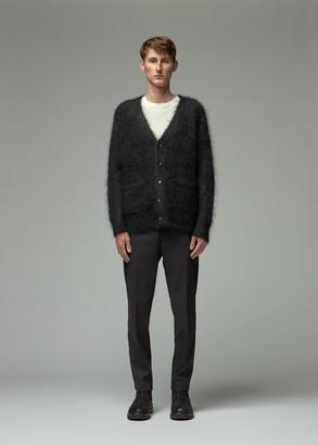Totokaelo Archive Men's Davie Mohair Cardigan Sweater in Black Size Small Mohair/Wool