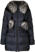Prada fox fur trim hooded jacket