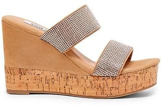 Steve Madden Sandro Embellished Microsuede Wedge Sandals