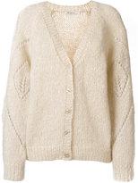 Mes Demoiselles lace knit V-neck cardigan