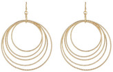 Natasha Accessories Multi Layered Pave Hoop Earrings