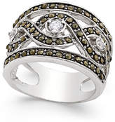 INC International Concepts Silver-Tone Crystal Braided Statement Ring, Only at Macy's