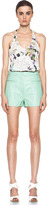 3.1 Phillip Lim A Line Leather Short with Zip Detailing in Seafoam