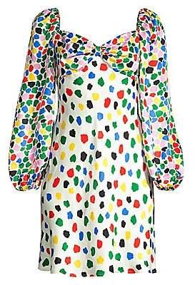 Rixo Women's Paris Abstract Tulip-Print Mini Dress