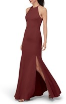 Women's Watters Mical Bellessa Stretch Crepe Gown