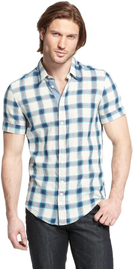 HUGO BOSS 'Cliffi'   Slim Fit, Cotton-Linen Button Down Shirt by BOSS Orange
