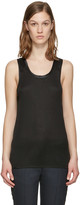 Rag & Bone Black Silk Gunner Tank Top