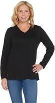 Factory Quacker Essentials Long-Sleeve V-Neck Knit Tunic