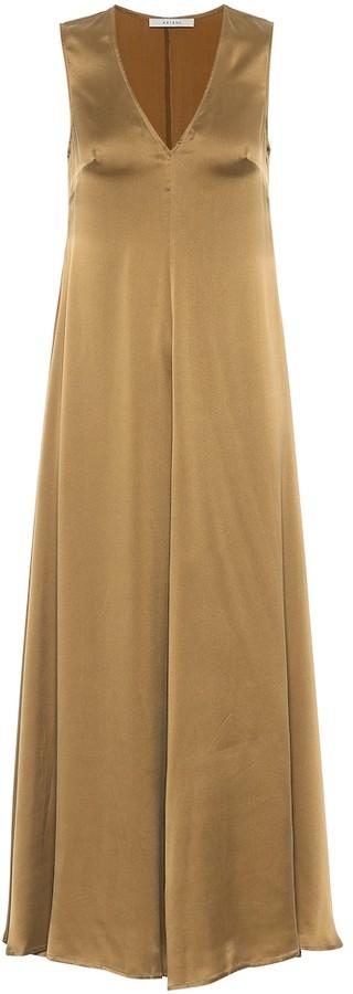 ASCENO Savannah silk satin maxi dress
