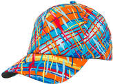 Magid Turquoise & Orange Abstract Baseball Cap