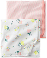 Carter's Baby Girls' 2-Pack Little Blooms Swaddle Blankets