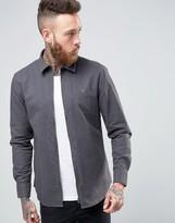 Farah Zipthru Hopsack Shirt Regular Fit in Gray