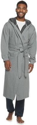 Hanes Men's 1901 Athletic Hooded Cotton Fleece Robe