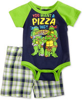 Nannette 2-Pc. TMNT You Want A Pizza Bodysuit and Shorts Set, Baby Boys (0-24 months)